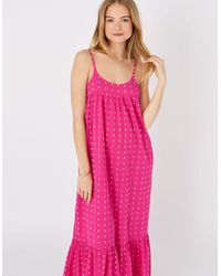 Accessorize Dobby Maxi Dress Pink