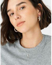 Accessorize Women's Gold And Pink Sterling Silver Rose Quartz Pendant Necklace, Size: 43cm - Multicolour