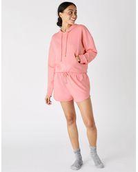 Accessorize Women's Orange Cotton Plain Hoody, Size: Xs - Pink