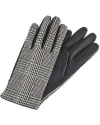 Accessorize Karli Tweed And Leather Glove - Black