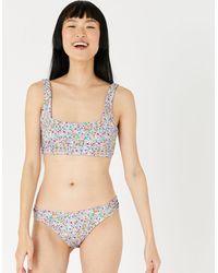 Accessorize Retro Ditsy Floral Bikini Briefs Multi - Multicolour