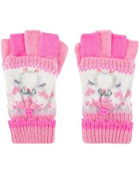 Accessorize Peggy Penguin Capped Gloves - Pink
