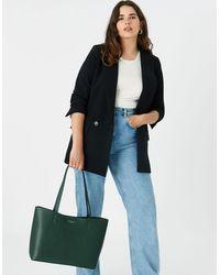 Accessorize Women's Green Leo Tote Bag, Size: 26x44cm