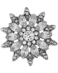 Accessorize - Crystal Flower Brooch - Lyst