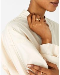 Accessorize Reconnected Round Edge Band Ring Gold - Metallic
