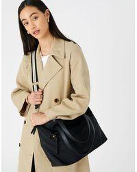 Accessorize Women's Black Nadine Nylon Tote Bag, Size: 48x32cm