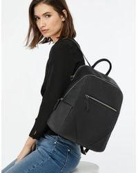 Accessorize Women's Black Slim Judy Vegan Backpack