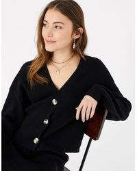 Accessorize Ribbed Lounge Cardigan Black
