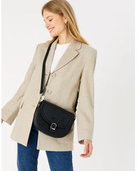 Accessorize Nicola Saddle Cross-body Bag - Black