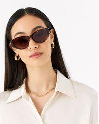 Accessorize Cariss Cat Eye Sunglasses - Brown