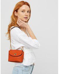 Accessorize Mini Cross-body Bag With Chain Strap - Orange