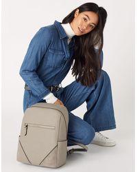 Accessorize Women's Grey Slim Judy Vegan Backpack, Size: 36x28cm
