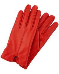 Accessorize Classic Leather Glove - Red