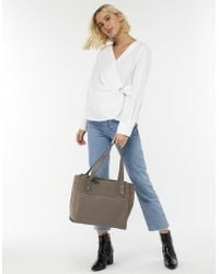 a77baff67 Accessorize - Drew Double Zip Leather Work Bag - Lyst