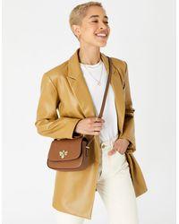 Accessorize Women's Brown Britney Bee Cross-body Bag, Size: 16x22cm