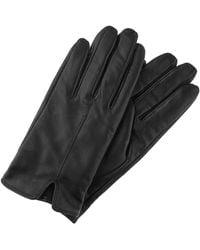Accessorize Classic Leather Gloves Black