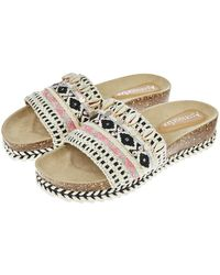 9550837fcf70a Accessorize - Alicia Wedge Footbed Slider Sandals - Lyst