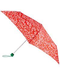 Accessorize Colourful Animal Print Umbrella - Pink