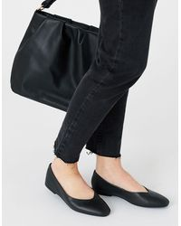 Accessorize Super-soft Leather Loafers Black