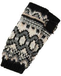 Accessorize Mono Fair Isle Cut Off Gloves - Multicolour