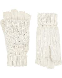 Accessorize Thinsulatetm Foiled Capped Gloves - White