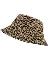 Accessorize - Leopard Print Reversible Bucket Hat - Lyst