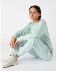 Accessorize Women's Green Cotton Oversized Cropped Sweatshirt, Size: Xs