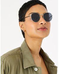 Accessorize Roxy Round Sunglasses Silver - Multicolour
