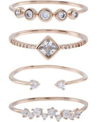 Accessorize | Rose Gold 4x Super Sparkle Ring Set | Lyst