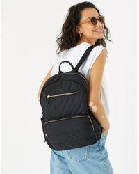 Accessorize Women's Black Nylon Puffer Backpack, Size: 39x30cm