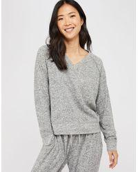 Accessorize Grey Marl Sweatshirt Grey