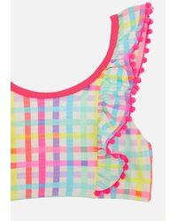 Accessorize Rainbow Check Bikini Set Multi - Multicolour