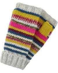 Accessorize Fairweather Teddy Lined Cut Off Gloves - Multicolour