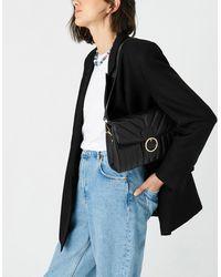 Accessorize Women's Black Stylish Quilted Annie Shoulder Bag, Size: 17x25cm
