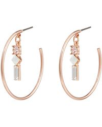 8f82d4cde Accessorize - Statement Charm Hoop Earrings With Swarovski® Crystals - Lyst