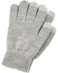 Accessorize Shimmer Knit Touchscreen Gloves - Grey