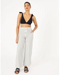 Accessorize Textured Stripe Beach Trousers Black
