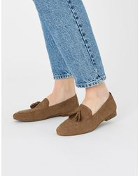 Accessorize Suede Loafers Tan - Brown