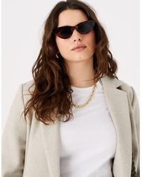 Accessorize Carlotta Tort Cat-eye Sunglasses - Multicolour