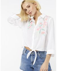 Stetson® Women's White Cotton Lawn Embroidered Long Sleeve Snap Western  Shirt