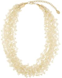 Accessorize Beaded Cord Necklace - Natural