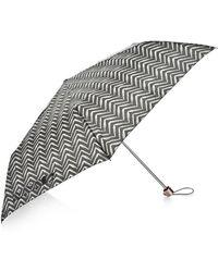 Accessorize Lux Chevron Superslim Umbrella - Black