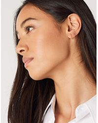 Accessorize Women's Gold-plated Brass Sparkle Earring Set, Size: 1x1cm - Metallic