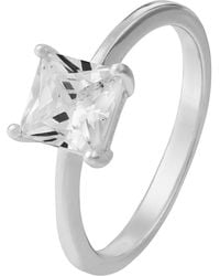 f10cdb30f1737 Accessorize Sterling Silver Large Stone Ring With Swarovski® Crystal ...