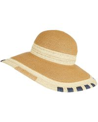 94231675 Accessorize Rancher Packable Fedora Hat in Natural - Lyst