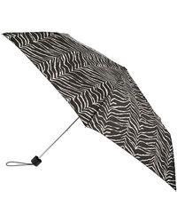 Accessorize Black And White Animal Print Umbrella, Size: 3x24cm