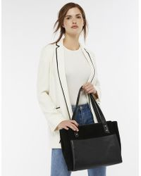 Accessorize - Drew Double Zip Leather Work Bag - Lyst