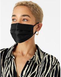 Accessorize Black Luxurious Pure Silk Face Covering, Size: 17x8cm