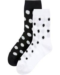 Accessorize Fluffy Polka Dot Ankle Sock Set - Multicolour
