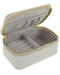 Accessorize Women's Grey Jewellery Box, Size: 9x13cm
